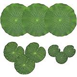 TRYSHA 9人工浮動泡ロータス葉スイレンパッドオーナメントグリーンパック|パーフェクトパティオ鯉魚池プールアクアリウムホームガーデンウェディングパーティーのためのスペシャルイベントデコレーション 偽の花