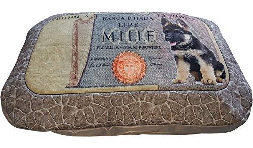 Matte, Matratze Hundehütte für Hunde mit Schäferhund, ein Single Stück 116x80x12 grün