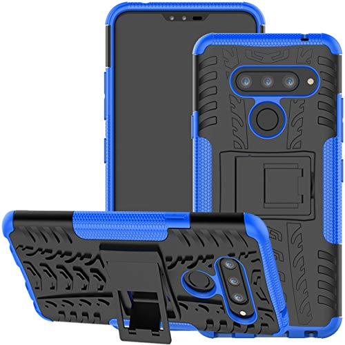 Yerebel LG V35 ThinQ Hülle, LG V30 Hülle, LG V30s ThinQ Hülle, mit Ständer, harte Polycarbonat-Rückseite, weiche TPU-Schutzhülle für LG V35/LG V30 Plus (blau)