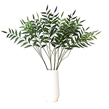 Artificial Plants 32  Artificial Eucalytus Green Branches Fake Shrubs Plastic Greenery Plants House Office Decor(2pcs)- Warmter