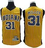YZQ Jerseys - Edición Masculina NBA Indiana Pacers # 31 Reggie Miller - Camiseta Deportiva De Jersey De Baloncesto Camiseta Sin Mangas,S(165~170cm/50~65kg)