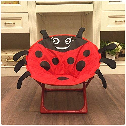 AVGe Cartoon Enfants Pliable Chaise de Plage Chaise avec Dossier Portable extérieur Chaise Coccinelle