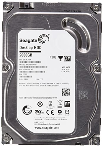 Seagate Desktop ST2000DM001 HDD 2 TB Interne Festplatte ((3,5 Zoll) SATA, 6GB/s, 64 MB Cache)