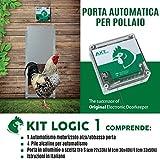 Porta Automatica crepuscolare per pollaio Kit Logic 1...