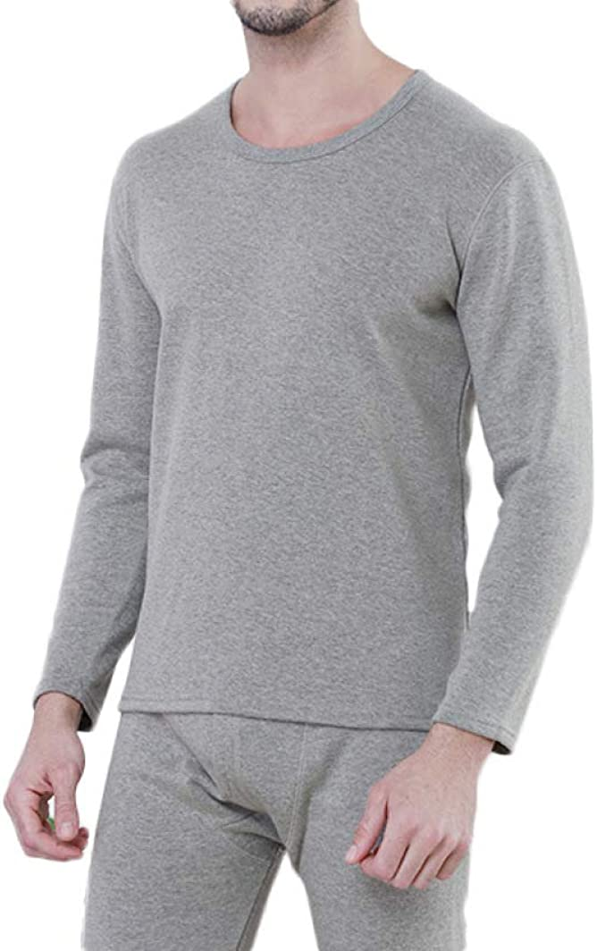 Mens Thermal Underwear Set Fleece Lined Long Johns Winter Warm Base Layer Top and Bottom