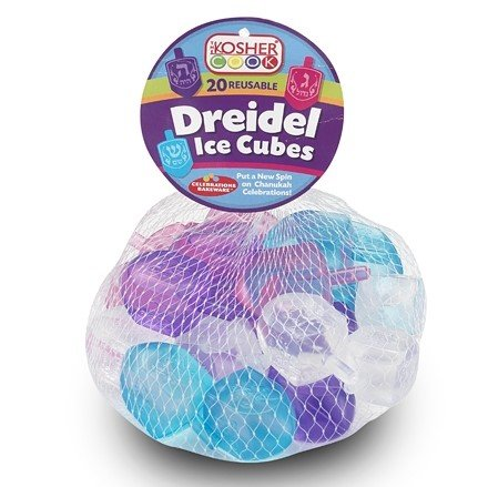 The Kosher Cook Dreidel Shaped Reusable Ice Cubes – 20 Pack – Food Grade Freezer Safe Silicone – Freeze and Reuse to Chill Drinks without Melting or Diluting - Chanukah Cookware