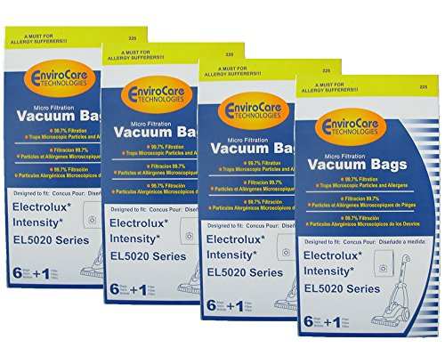 24 Electrolux Intensity EL5020 Series Mico Filtration EL206 A Bags 2 Filter Upright Eureka Maxima Canister EL206A EL206 972b – not exact fit. Check the dimensions to be certain it will work for you