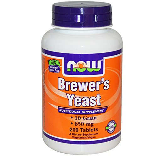 Now Foods, Brewer's Yeast, 650 mg, 200 Tablets (Pack of 2)