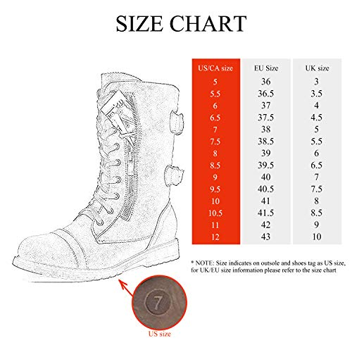 DREAM PAIRS Women's Ankle Bootie Winter Lace up Mid Calf Military Combat Boots
