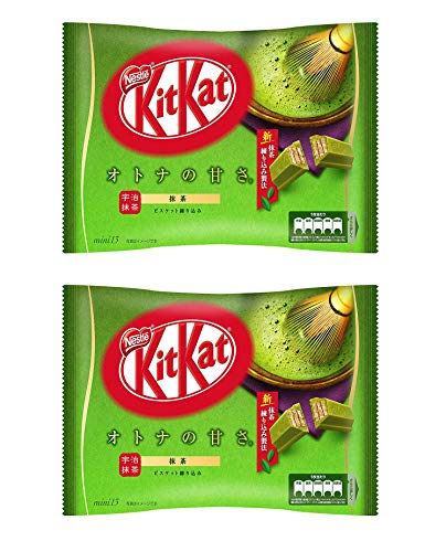 Japanese Kit Kat Matcha Green Tea Flavor chocolate, kitkat candy snack Japan Exclusive Pack of 2