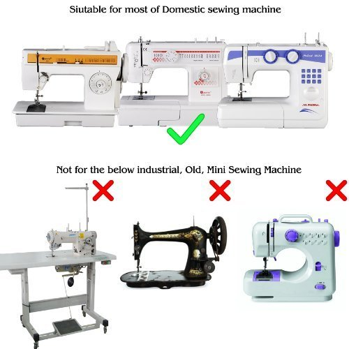 SORA H® Kit de 32pcs multifuncional prensatelas para maquina de ...