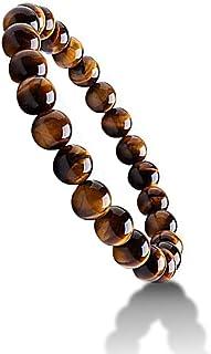 Natural Pulsera de 7 Chakras, Lava Rock Lava Rock Bracelet Pulseras con Cuentas de Cristal para Mujer,Yoga/Cumpleaños/Regalo de San Valentín