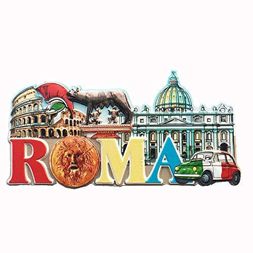 Vaticano, Colosseo Roma Italia 3D Magnete per Frigorifero Souvenir Regalo,Casa & Cucina Decorazione Magnetica Sticker Roma Frigorifero Magnete Collezione