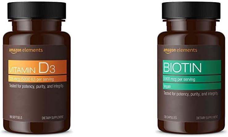 Amazon Elements Vitamin D3 5000 IU 6 Super sale Limited time sale Softgels Suppl Month 180