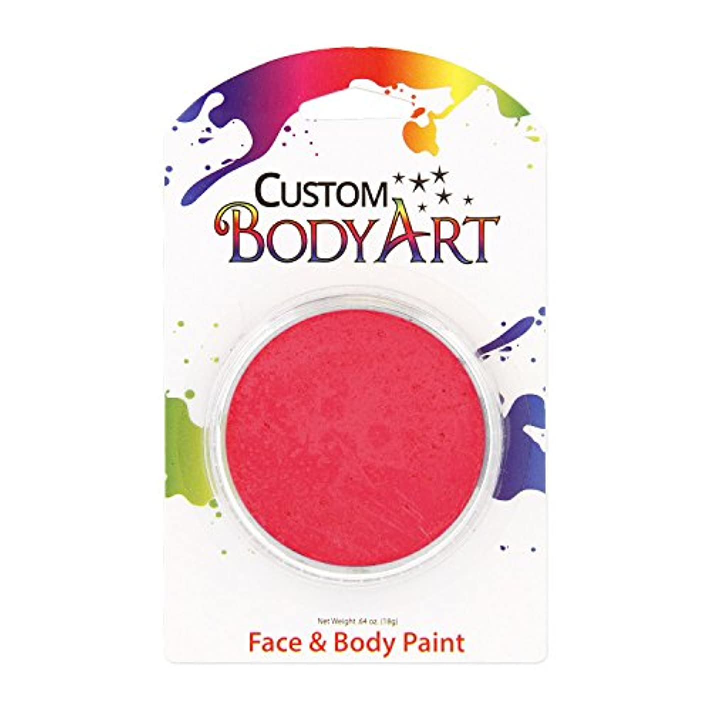 Custom Body Art 18ml Face Paint Fluorescent Color Single Colors 1-each (Pink Fluorescent) - Great for Parties, Halloween & Birthdays