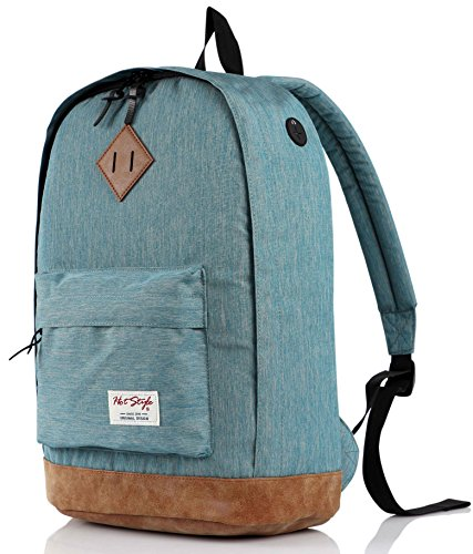 936Plus School Backpack, Laptop Book Bag for College, Water Resistant with 12 Pockets, LightTurquoise