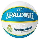 Spalding El Team Real Madrid Sz.7, (83-118Z) Balón de Baloncesto, Hombre, Blanco/Azul, 7