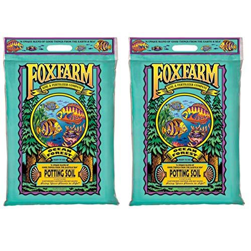 Foxfarm FX14053 Ocean Forest Organic Plant Garden Potting Soil Mix 12 Quarts, 11.9 Lbs (2 Pack)