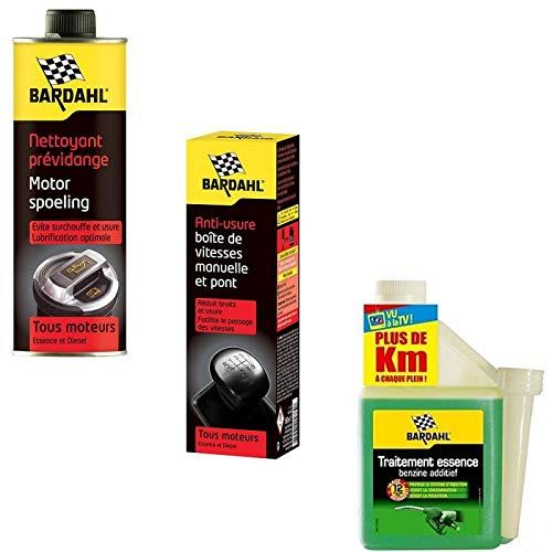 Bardahl Pack Entretien Nettoyant Prévidange Anti Usure Boite Traitement Essence