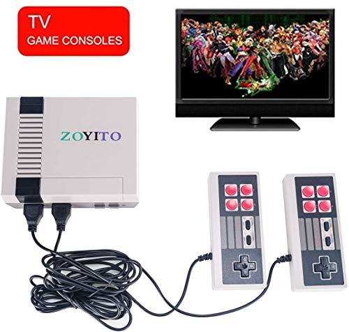 Anzer Consola de Juegos Mini TV TV Familiar clásica de 620 Juegos, Consola portátil Sistema de Juegos Retro Consola portátil con Controlador Dual, te trae Recuerdos Felices de la Infancia