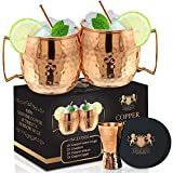 Moscow Mule Mugs - Set of 2-100% HANDCRAFTED - Food Safe Pure Solid