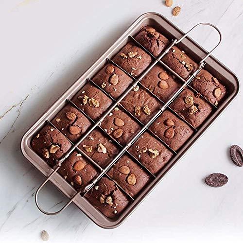 Brownie-Backform, 18 Teiler Antihaft-Kohlenstoffstahl-Kuchenform DIY-Backblech für die Küche zu Hause, 12,2 x 7,9 x 1,9 Zoll