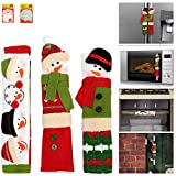 Appliance Handle Covers 3pcs Cover Set for Christmas Decorations & Decor with Free 2pcs Sticky Notes Decorative Set Fits Standard Size Kitchen Refrigerator Microwave Oven Or Dishwasher Door