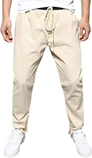 Abetteric Men Cozy Straight Leisure Oversize Business Solid Trousers Pants 6 30