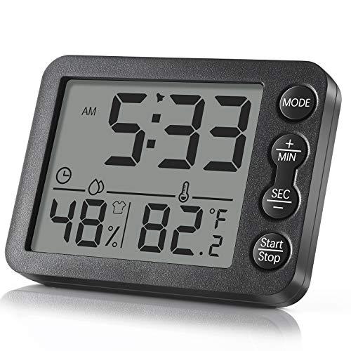 Termometro Igrometro Digitale, Igrometro Digitale di Temperatura Interna con Monitor di Visualizzazione più Grande Temperatura e umidità per Casa e Ufficio