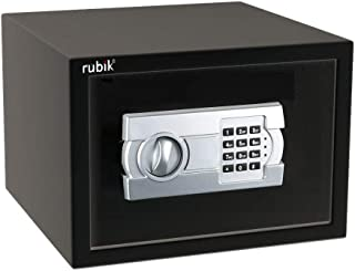 Rubik A4 Document Size Safe Box for Home Office with Key and Pin Code Keypad for Cash Documents Jewelry Passports (25x35x2...