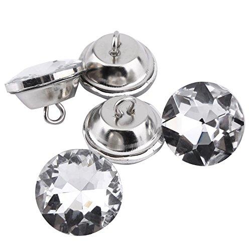 50 piezas de diamantes botones de diamantes de imitación botones de cristal brillante diy botones de decoración artesanal para bolsas zapatos vestido de boda(20mm)