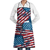 Darlene Ackerman(n) Tablier de Cuisine Drapeau américain Patriotic Premium Restaurant Tablons Chef Cooking Bib Tablon for Kitchen