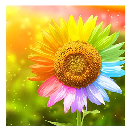 Sunflower Diamond Painting Kits Full Drill for Adults Flower 5D Gem Painting Kits Full Drill 5D Mosaic Pictures Kits Full Drill for Kids Round Beads 30x30cm/11.81x11.81inch