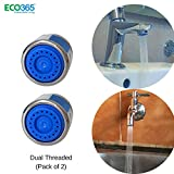 ECO365 Water Saving Aerator With Dual Threaded Shell: 3 Lpm Shower Flow Aerator