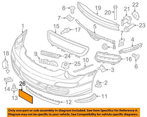 Porsche OEM 09-12 911-License Plate Bracket Mount Holder 99770105110