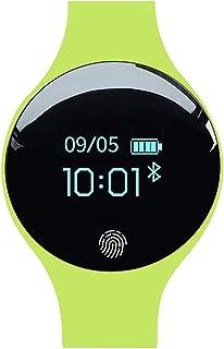 ZNMJW Reloj Inteligente,El Reloj electrónico Que vibra el Reloj de los niños del Contador de Paso de Bluetooth del Reloj Elegante se Divierte la Pulsera-Green