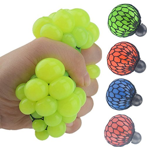 Yuhemii Squishy mesh Ball decompression Squeeze Toy Toys, Green, same