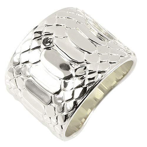 [アトラス]Atrus リング レディース 婚約指輪 pt900 プラチナ 蛇腹 ヘビ 幅広 地金 指輪 22号