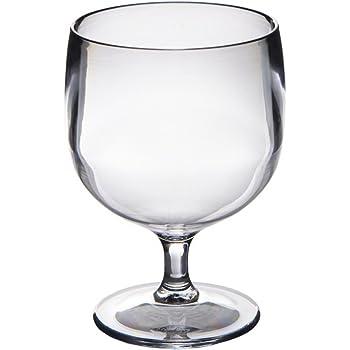 6 Verres à vin Roltex Polycarbonate EMPILABLES, incassables et réutilisables (200ml à ras bord Hauter 10.6 cm, Diamètre max 7.6cm)
