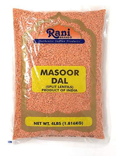 Rani Masoor Dal (Indian Red Lentils) Split Gram 4lb (64oz) ~ All Natural | Gluten Friendly | NON-GMO | Vegan | Indian Origin