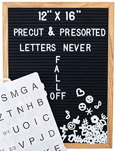 Feltwrite 12x16 Felt Letter Board with Letters and Numbers and Symbols! Letterboard with 600+ Pre Cut Felt Board Letters. Changeable Letter Boards for Baby Announcement, Message Board or Home Sign