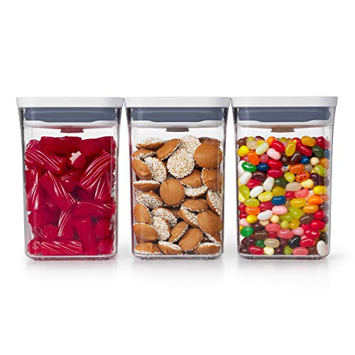 OXO Good Grips 3-PC Small Square Short POP Container Set