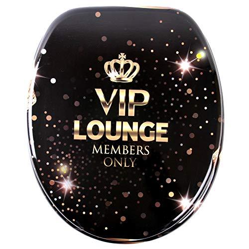 WC Sitz mit Absenkautomatik, viele schöne WC Sitze zur Auswahl, hochwertige und stabile Qualität aus Holz (VIP Lounge)