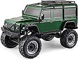 yanzz 1/8 Camión de Control Remoto de Alta simulación 4x4 Big Foot All Terrain Off Road Car con Sistema de amortiguación Profesional, Coche eléctrico RC Recargable de 2.4G (Color: Verde) (Color: V