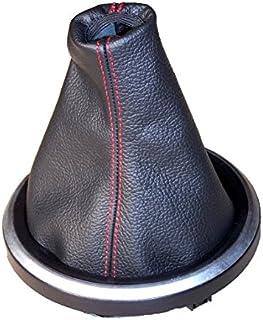 The Tuning-Shop Ltd - Funda para palanca de cambios, color negro - costuras rojas