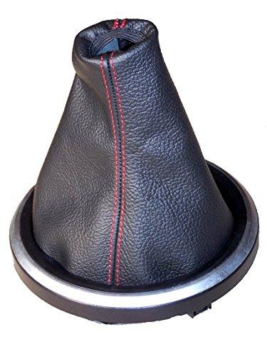 The Tuning-Shop Ltd Manuelle Schaltsack schwarzes Leder mit roten Nähten