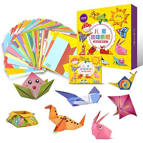 Origami papier, 108 vellen kinderen kinderen origami papier vouwen voor de kleuterschool kwekerij diy ambachten kunst projecten vroeg educatief speelgoed