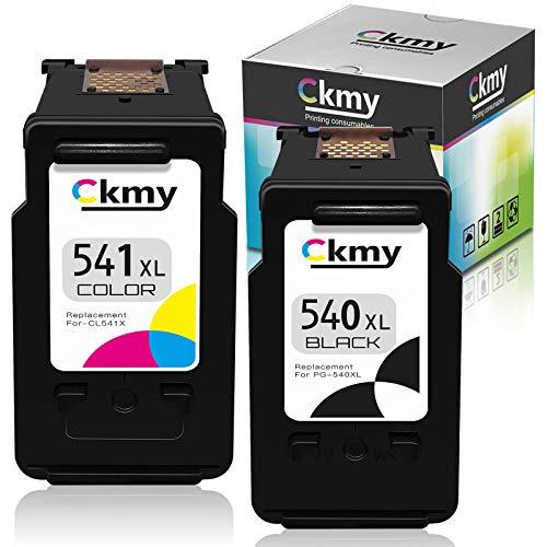 CKMY Remanufactured für Canon PG-540XL CL-541XL 540 XL 541 XL Druckerpatronen Schwarz & Farbe Tintenpatronen für Canon Pixma MG2450 MG2250s MG2950 MG3050 MG3200 MG3650 TR4550 TS3150 TS5150 TS5151