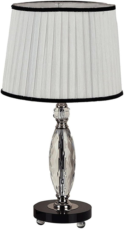 Weiße Schlafzimmer Lampe Kristall Nachttischlampe Licht minimalistischen Stoff Akkordeon plissiert 30  56cm A B07BLRTRP2     | Merkwürdige Form