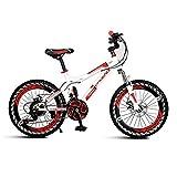 MYERZI Absorción de Impacto Portátil de bicicletas sola velocidad bicicleta de los niños bicicleta de montaña bicicleta plegable unisex 18 pulgadas pequeño Rueda de bicicleta (color: rosa, tamaño: 122